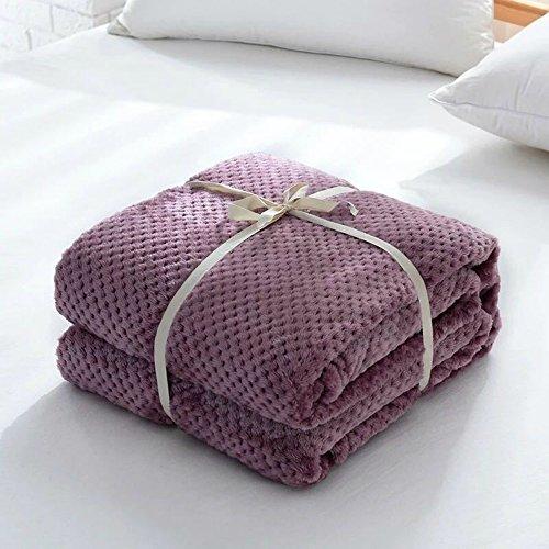 dDanke Tagesdecke Überwurf Weich Warm Kuschelig für Sofa/Bett Flanell-Fleece, rot, 150cm*200cm