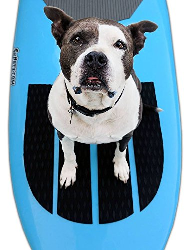 SUP-Now 4 Piece Dog Paddleboard Traction Pad with 3M Adhesive (No Paw Prints)