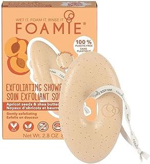 Gel doccia solido Foamie esfoliante e idratante per il corpo con albicocca e burro di karité 100% vegano e senza plastica ...