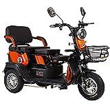 XCJJ Scooter eléctrico con canasta, Scooter eléctrico de 3 ruedas para adultos, Scooter eléctrico Drive Medical, baterías de litio de 48 V 20 Ah,naranja