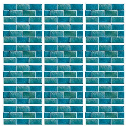 18 pegatinas autoadhesivas de 30 x 15 cm para azulejos 3D impermeables