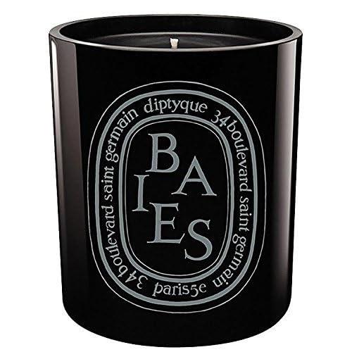 DIPTYQUE EMPTY BLACK GLASS JAR BAIES CANDLE 300 GRAMS,10.2 oz