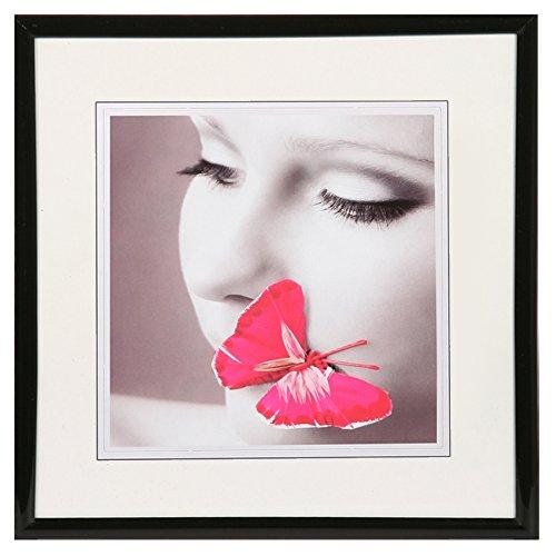 New Lifestyle Kunststoff Bilderrahmen quadratisch 20x20 30x30 40x40 50x50: Farbe: Schwarz | Format: 30x30