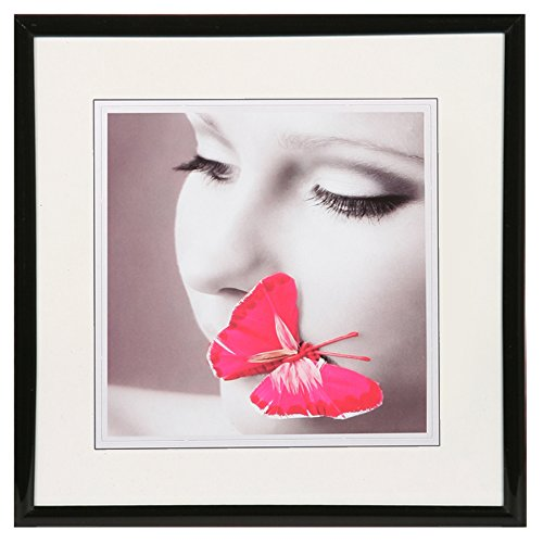 New Lifestyle Kunststoff Bilderrahmen quadratisch 20x20 30x30 40x40 50x50: Farbe: Schwarz | Format: 50x50