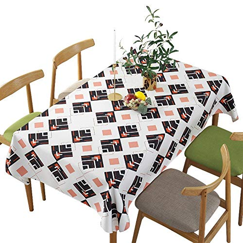 Buy and buy at Brandon Tablecloth Fabric Cotton Linen Tablecloth Creative Nordic Rectangular Geometric Table Coffee Table Cloth Personalized Digital PrintingPink140*100