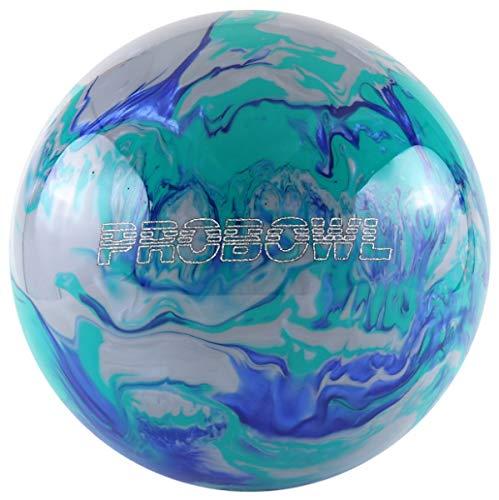 Pro Bowl Bowling-Ball Bowling-Kugel für Einsteiger und Profis Polyesterball Räumball (Blau/Grün, 12 LBS)