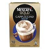 NESCAFÉ GOLD Cappuccino Decaf Preparato Solubile per Cappuccino Decaffeinato Astuccio, 6 confezioni da 10 bustine