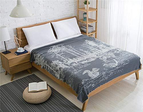 Manta de invierno Material natural extremadamente cálido Manta de hilo de tejer de algodón Sofá Funda de sofá Manta de fotografía Modelo de manta de habitación Manta de punto-ceniza de cáñamo_150x200