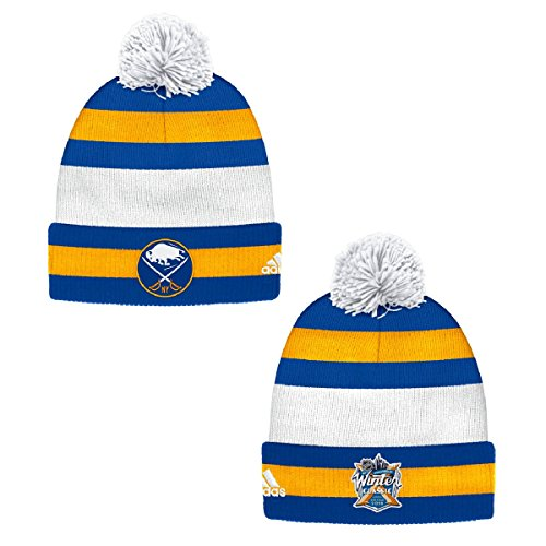 adidas Buffalo Sabres 2018 Winter Classic Knit Hat with Pom