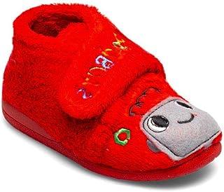 Botita Robot Rojo Zapatillas de Estar por casa niño Invierno Otoño