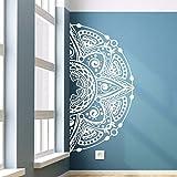 Calcomanía de pared Half Mandala Flower Wall Sticker Home Living Room Decor Mandala Style Wall Mural Flower Wall Art A3 42x84cm