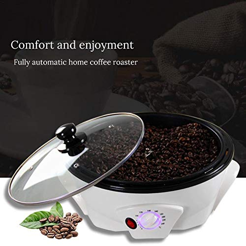 HEYJUDY tostador de café 110 V granos de café tostadora para el hogar, de acero inoxidable, tipo de tambor eléctrico, tostador d