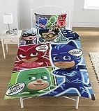 Disney PJ Masken 'Comic reversibel Panel einzigen Bettbezug