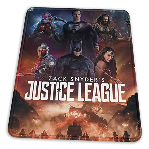 Zack Snyder'S Justice League Customized Mouse Pad, Modern Line Design, Non-Slip Rubber Thick Mouse Pad for Laptop