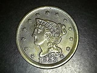 1853 half cent