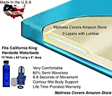 California King 80% Semi Waveless Waterbed Mattress with Lumbar Support