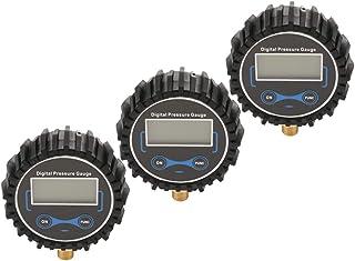 Kesoto Medidor digital de pressão de pneu com 3 peças, acessórios para ferramentas, 200 PSI
