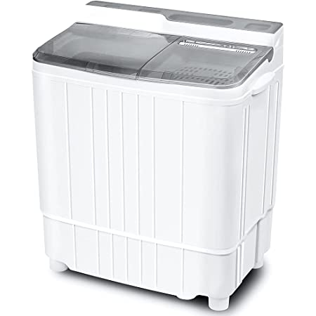 INTERGREAT Portable Washing Machine Mini 17.6 Lbs Compact Washer Machine And Dryer Combo,Small Twin Tub Washer with Spin Cycle for Laundry, Camping, Apartments, Dorms, College Rooms, Rv's (Grey)