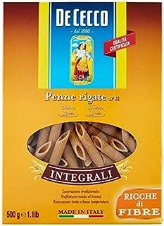 De Cecco Wholewheat Penne Rigate - 500g (1.1lbs)
