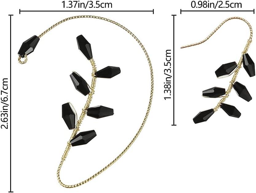 CUTIHO Vintage Ear Earrings Wrap Around Ear Wrap Crawler Hook Earrings for Women Girls Non Piercing Ear Wrap - 52225263