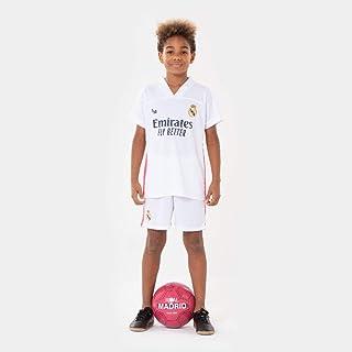 Real Madrid C.F. Morefootballs - Offizielles Real Madrid Heimspiel Trikot Set für Kinder - 2020/2021 - Vollständiges Tenue mit Trikot und kurzer Hose - Fussball Shirt und Shorts
