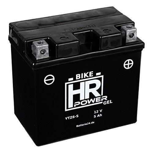 Gel Motorrad Batterie Starterbatterie 12V 5Ah YTZ6-S wartungsfrei