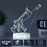Cool Fortress Lamp Light for Boys Changeable USB Touch Lampada 3D Visual Bulbing lampen Children's Room Decor Holiday Light (Crack Scar)