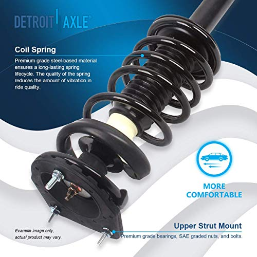 Detroit Axle - REAR Driver Passenger Side Complete Strut with Coil Spring Assembly Replacement for 1995-2005 Chevrolet Cavalier/Pontiac Sunfire - 2pc Set