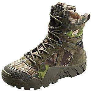 FREE SOLDIER Botas de Caza para Hombres Botas Militares de Combate de Tiro Alto con Cordones Zapatos Ligeros para Todo Terreno para Senderismo, Trabajo, Selva(Camouflage,43)