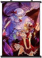 アニメポスター生地スクロール漫画コミックスクロール壁掛け画像装飾東方Project40x60cm