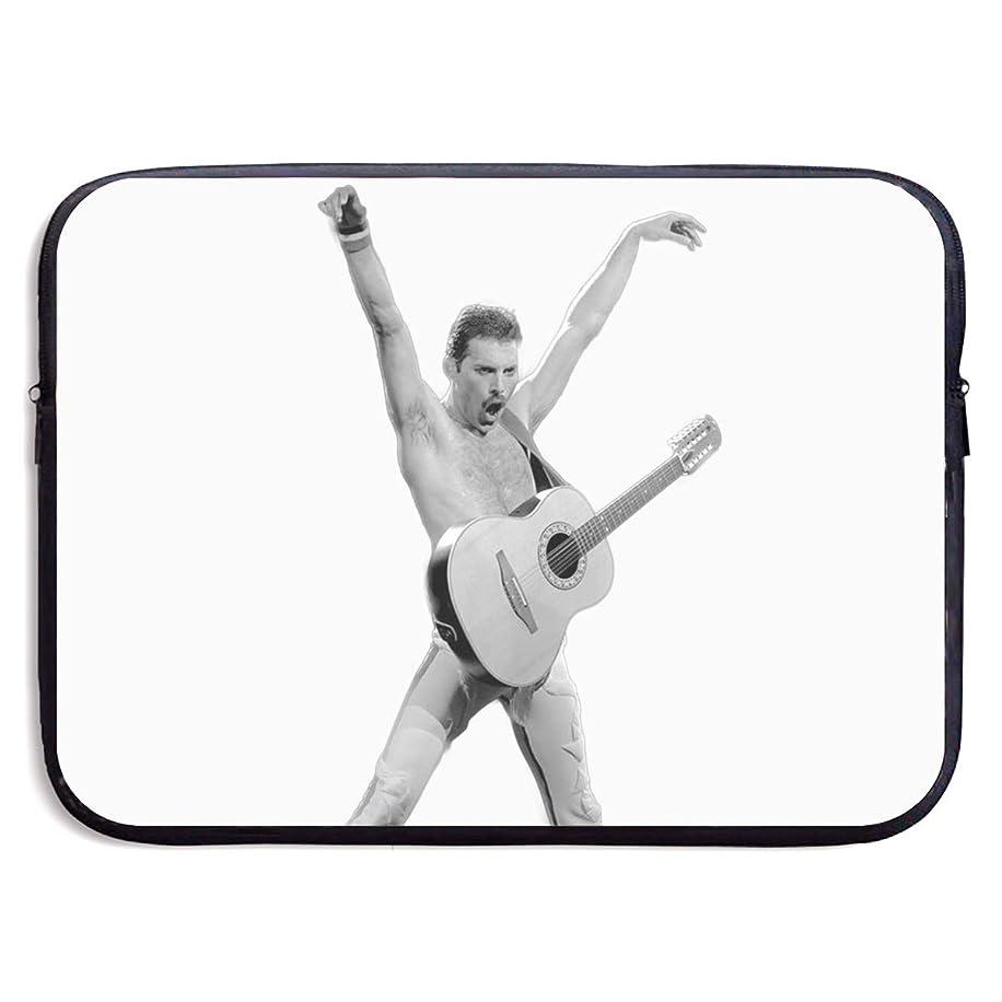 Kim Mittelstaedt Freddie Mercury Play Guitar Multi-Functional Portable Notebook Computer Sleeve Case Bag/Handbag for 13/15 Inch Laptop/Netbook/MacBook