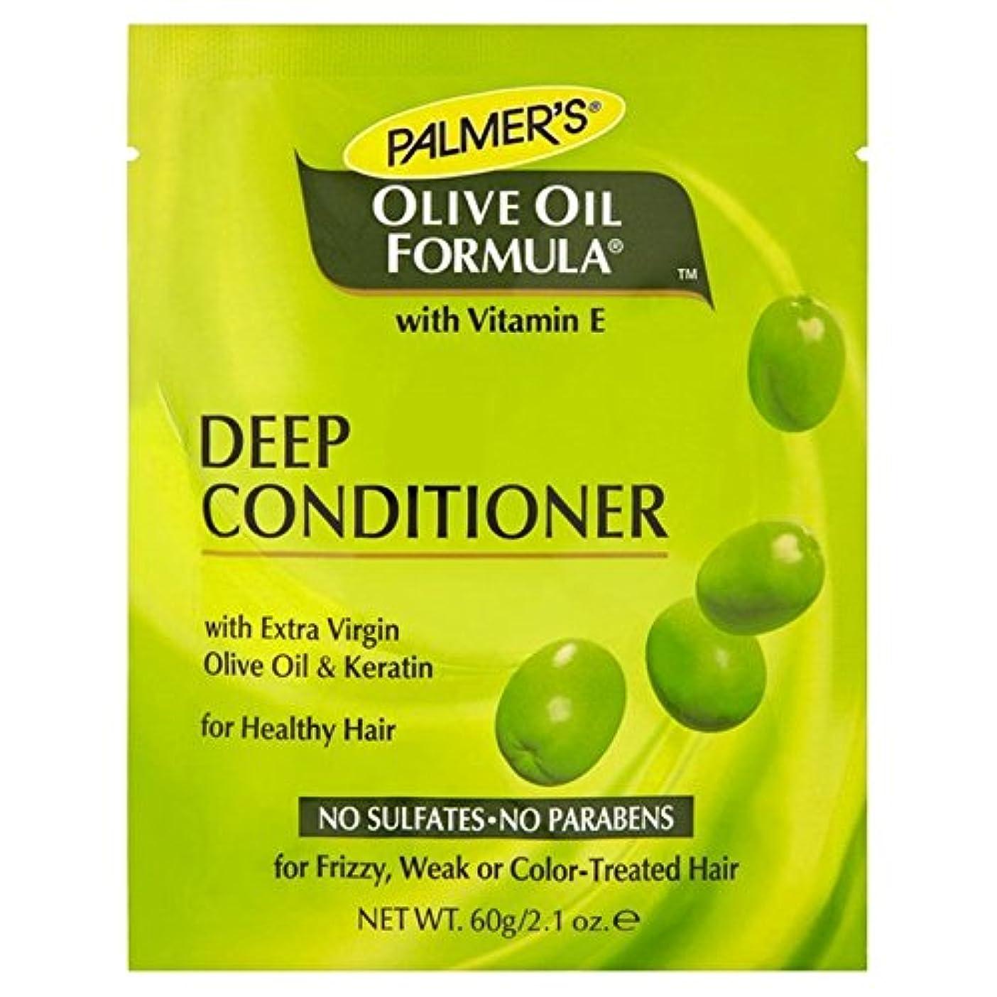 太字縁検出器パーマーのオリーブオイル式深いコンディショナータンパク質パック60グラム x2 - Palmer's Olive Oil Formula Deep Conditioner Protein Pack 60g (Pack of 2) [並行輸入品]
