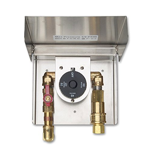 Gas Connection Box with Quick Disconnect & 1 Hour Timer