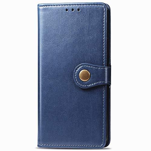 Funda tipo cartera de piel para Samsung A21S, antigolpes, resistente a los arañazos, resistente a los arañazos, carcasa con imán y compartimento para tarjetas y función atril