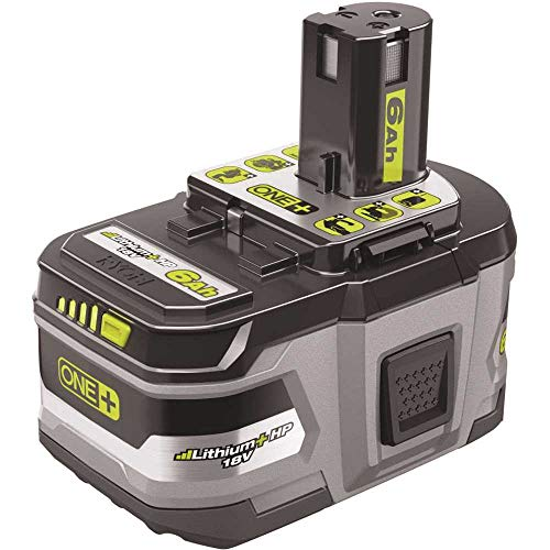 Ryobi P193 18 Volt 6.0 Ah ONE+ Lithium-Ion LITHIUM+ HP High Capacity Compact Battery