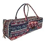 Kindfolk Yoga Mat Duffle Bag Patterned Canvas with Pocket and Zipper (Karma Duffel)