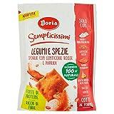 Doria Semplicissimi Legumi e Spezie Snack con Lenticchie Rosse e Paprika, 130g
