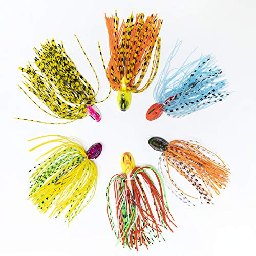 GRINEER Bass Fishing Jigs,Ice Fishing Jigs and Rigs Set for Trout Crappie Walleye,Metal Lead-Head Swim Bait Kit Jigs Lure for Freshwater and Saltwater (Pack of 6)