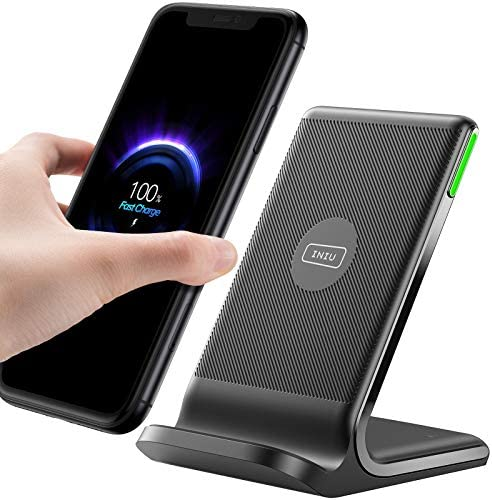 INIU Wireless Charger 15W Fast Wireless Charging Stand with Dual Coils Sleep friendly Adaptive product image