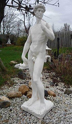SSITG STATUE DAVID v. MICHELANGELO Männerskulptur Gartenfigur Adonis Steinfigur