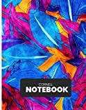 Cornell Notes Notebook: Stylish Modern College High School University Class Note Taker Colorful Digital Art Blue Pink S4| 150 Page 8.5'X11' Ruled ... To School Supplies for Middle School Students