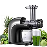 Juicer Machines, AICOOK No Filter Cold Press Juicer Easy to Clean, Dishwash Safe Parts and Cleaning Brush, 3 Juicing Modes for Whole Fruits and Vegetables with 95% More Nutrition, Higher Juice Yield