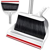 Broom and Dustpan Set with 52' Handle Handhold Dust Pan Sweeper for Home Kitchen Room Office Outdoor Indoor Cleaning