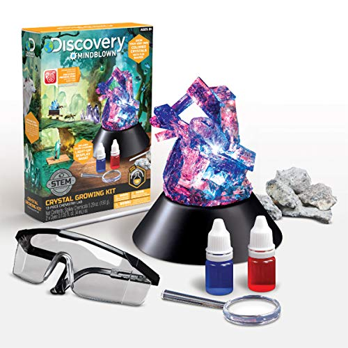 Discovery #Mindblown Crystal Aquarium, DIY Underwater Crystal Garden, Grow Your Own Stones, Chemistry / Science STEM Toy Kit for Kids, with Glowing LED Lights, Age 8+