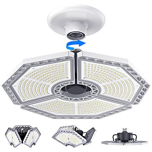 LED Garage Lights, 140W 18500 Lumens Garage Lighting, 6000K Daylight with...