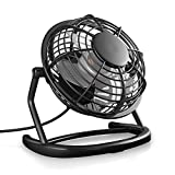 CSL - USB Ventilator | Tischventilator Fan Lüfter | optimal für den Schreibtisch inkl. An Aus-Schalter | Kompatibel am PC MAC Notebook Computer | in schwarz
