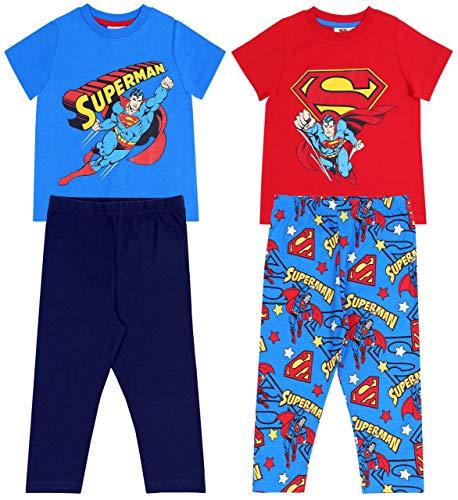 Pijama Azul y Rojo Superman 4-5 Años 110 cm