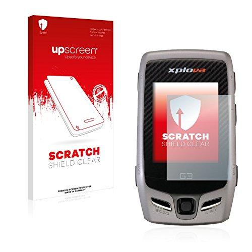 upscreen Protector Pantalla Compatible con Xplova G5 Topo Película Protectora – Transparente, Anti-Huellas