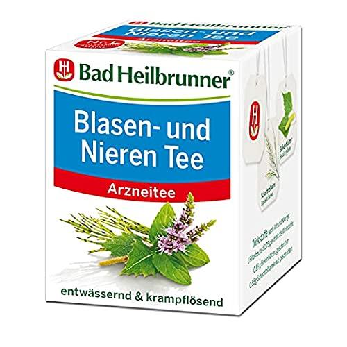 Bad Heilbrunner Blasen- und Nieren Tee im Filterbeutel, 1er Pack (1 x 8 Filterbeutel)