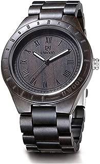 Men's Wooden Watch,BIOSTON Handmade Natural Vintage Quartz Wristwatch